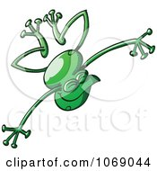 Clipart Goofy Green Froggy 3 Royalty Free Vector Illustration