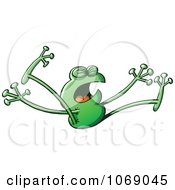 Clipart Goofy Green Froggy 9 Royalty Free Vector Illustration