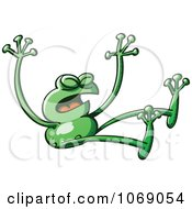 Clipart Goofy Green Froggy 13 Royalty Free Vector Illustration