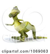 Clipart 3d Dinosaur Walking 4 Royalty Free CGI Illustration