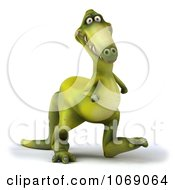 Clipart 3d Dinosaur Walking 3 Royalty Free CGI Illustration