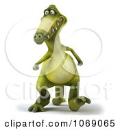 Clipart 3d Dinosaur Walking 1 Royalty Free CGI Illustration