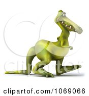 Clipart 3d Dinosaur Walking 2 Royalty Free CGI Illustration