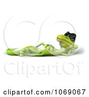 Clipart 3d Gecko Reclined In Sunglasses 3 Royalty Free CGI Illustration