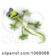 Clipart 3d Gecko Reclined In Sunglasses 4 Royalty Free CGI Illustration