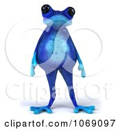Clipart 3d Fat Blue Springer Frog Royalty Free CGI Illustration