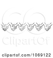 Clipart Border Of Black And White Holding Hands Royalty Free Vector Illustration by Johnny Sajem