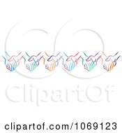 Clipart Border Of Colorful Holding Hands Royalty Free Vector Illustration by Johnny Sajem
