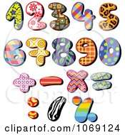 Clipart Patterned Numbers Royalty Free Vector Illustration by yayayoyo
