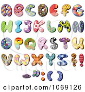Clipart Patterned Capital Letters Royalty Free Vector Illustration by yayayoyo