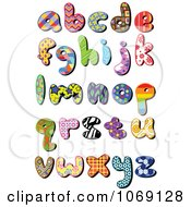 Clipart Patterned Lowercase Letters Royalty Free Vector Illustration