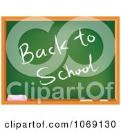 Clipart Chalk Board With A Back To School Greeting Royalty Free Vector Illustration