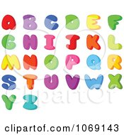 Clipart Colorful Letters Royalty Free Vector Illustration by Pushkin