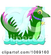 Clipart Water Dragon Royalty Free Vector Illustration by bpearth