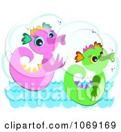 Clipart Two Sea Serpents Royalty Free Vector Illustration by bpearth