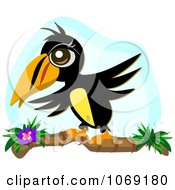 Clipart Toucan Landing On A Branch Royalty Free Vector Illustration by bpearth