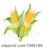 Clipart 3d Corn Cobs Royalty Free Vector Illustration