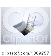 Clipart 3d Ladder Leading Into An Underground Tunnel Royalty Free CGI Illustration