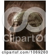 Clipart 3d Profiled Human Head With Gears In The Brain Royalty Free CGI Illustration