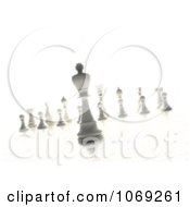 Clipart 3d White Chess King And Other Pieces Royalty Free CGI Illustration
