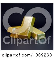 Clipart 3d Gold Bars Royalty Free CGI Illustration by Mopic
