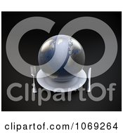 Clipart 3d Earth Served On A Plate Royalty Free CGI Illustration