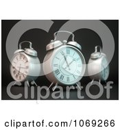 Clipart 3d Alarm Clocks In A Circle Royalty Free CGI Illustration by Mopic