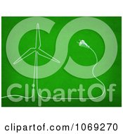 Clipart 3d Electric Cable Forming A Windmill Royalty Free CGI Illustration