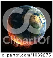Clipart 3d Burning Earth Royalty Free CGI Illustration