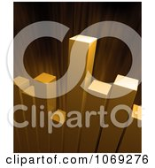 Clipart 3d Golden Bar Graph And Burst Royalty Free CGI Illustration by Mopic