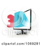Clipart 3d Television Screen 1 Royalty Free CGI Illustration by Mopic