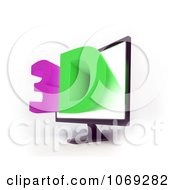 Clipart 3d Television Screen 2 Royalty Free CGI Illustration by Mopic