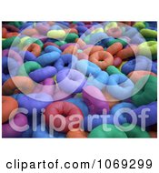 Clipart 3d Brightly Colored Donuts Royalty Free CGI Illustration