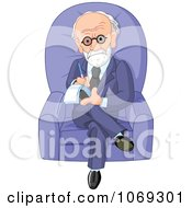 Clipart Male Therapist Sitting In A Chair Royalty Free Vector Illustration by Pushkin