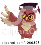 Clipart Presenting Professor Owl Royalty Free Vector Illustration by Pushkin