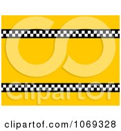 Checkered Yellow Taxi Background