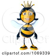 Clipart 3d Queen Bee Royalty Free CGI Illustration