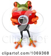 Clipart 3d Business Springer Frog Taking Pictures 3 Royalty Free CGI Illustration