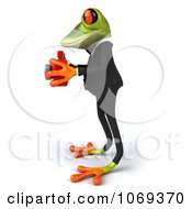 Clipart 3d Business Springer Frog Taking Pictures 5 Royalty Free CGI Illustration