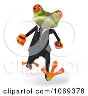 Clipart 3d Business Springer Frog Running 1 Royalty Free CGI Illustration