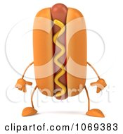 Clipart 3d Pouting Hot Dog 1 Royalty Free CGI Illustration