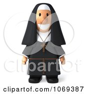 Clipart 3d Nun Royalty Free CGI Illustration by Julos