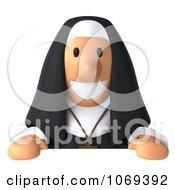 3d Nun Holding A Sign 1