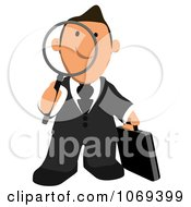 Clipart Business Toon Guy Searching 1 Royalty Free CGI Illustration