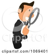 Clipart Business Toon Guy Searching 3 Royalty Free CGI Illustration