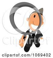 Clipart Business Toon Guy Searching 4 Royalty Free CGI Illustration