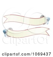 Clipart Two 3d Megaphone Banners Royalty Free Vector Illustration