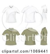 White And Tan Polo T Shirts