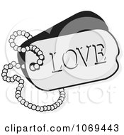 Clipart LOVE Dog Tag Royalty Free Vector Illustration by Johnny Sajem