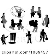 Clipart Black People Silhouettes Royalty Free Vector Illustration